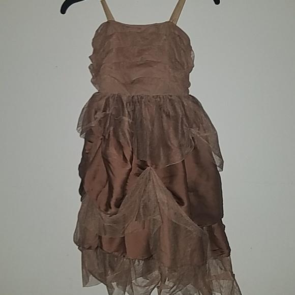 Weissman Other - Brown Ruffled Dress